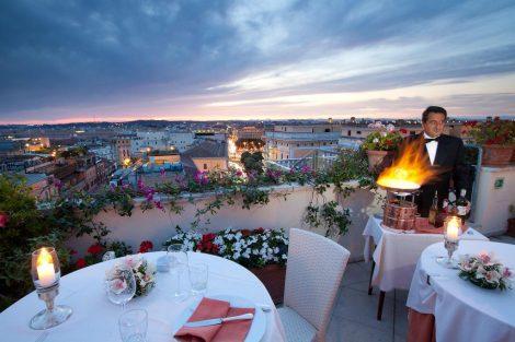 Hotel Bettoja Mediterraneo terrace